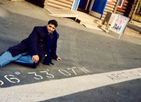 At polar circle near Rovaniemi in Finland, 1994