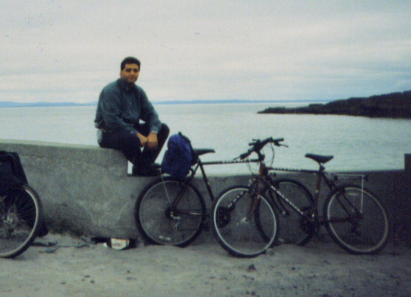 Memories from the past: on bicycle at the Aran Island, Ireland in 1996