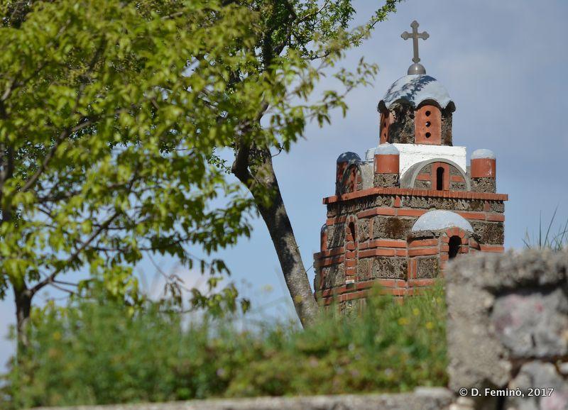Model of a monastery (Ostrog, Montenegro, 2017)