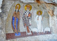 Mosaic with St Basil in Ostrog