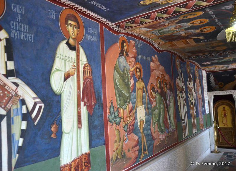 Frescos in upper monastery (Ostrog, Montenegro, 2017)