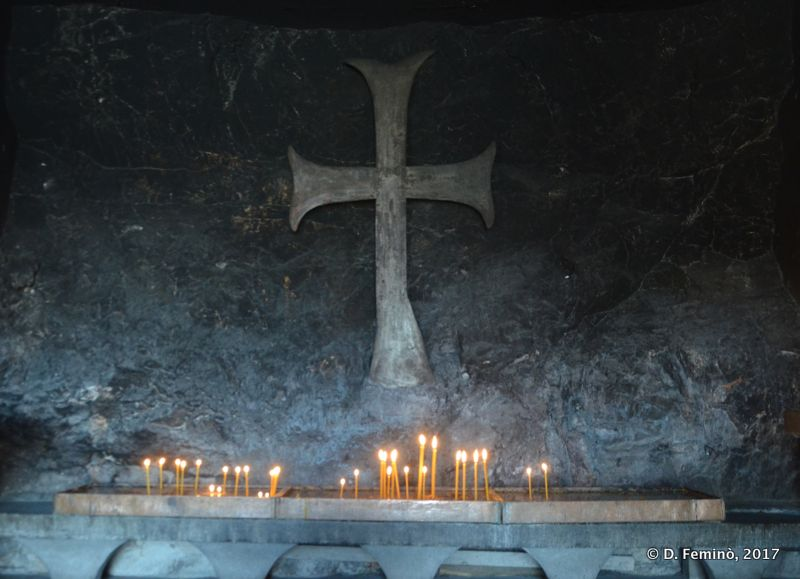 Old cross in a cave chapel (Ostrog, Montenegro, 2017)