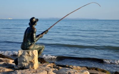 Fisherman monument in Durres