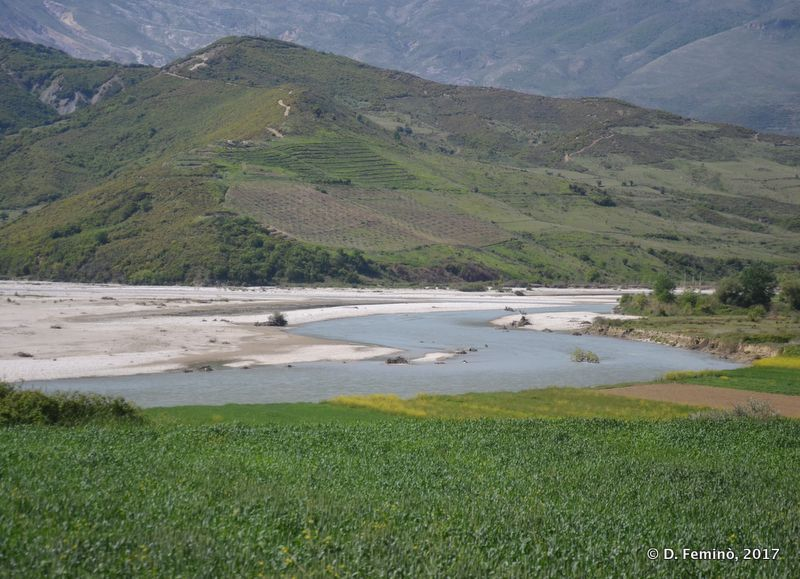 River and hills (Albania, 2017)
