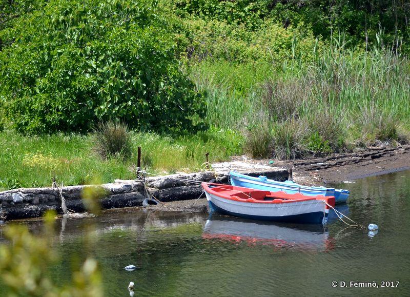 Two boats in Vivari channel (Butrint, Albania, 2017)