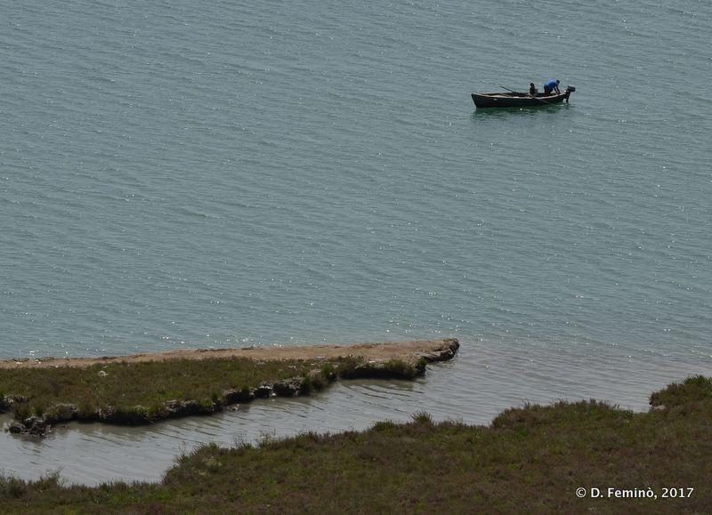 Boat in Vivari channel (Butrint, Albania, 2017)