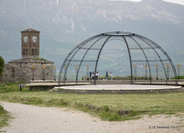 Stage for folklore festival (Gjirokastër, Albania, 2017)