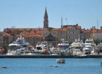 Budva old town from the marina