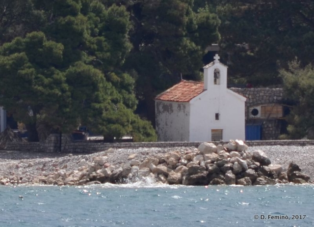 Little chapel on the island (Budva, Montenegro, 2017)