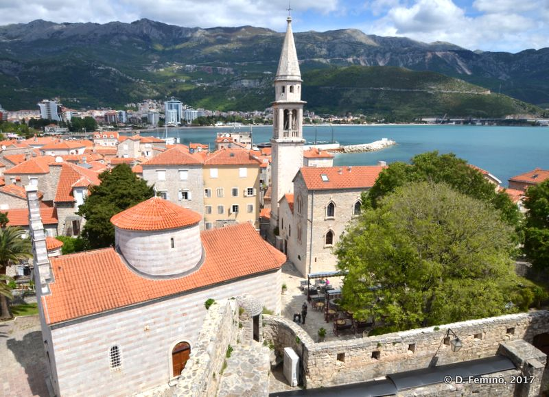 View of the old town from Citadela (Budva, Montenegro, 2017)