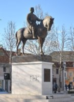 King Nikola statue in freedom square in Nikšić