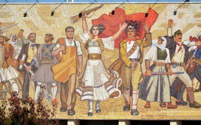 """Mosaic """"the albanian"""", Tirana"""