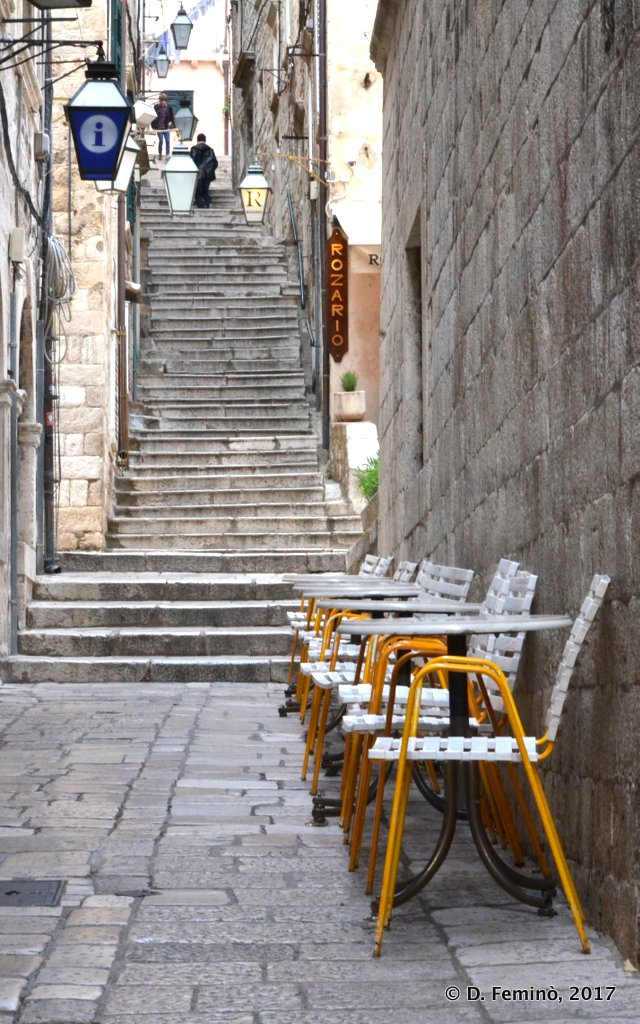 Dubrovnik, little street in old city