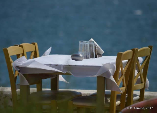 Table by the sea (Alexandroupoli, Greece, 2017)