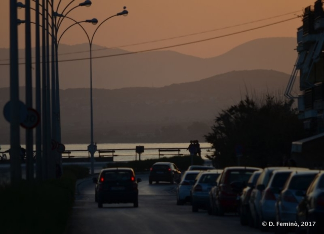Cars at sunset (Alexandroupoli, Greece, 2017)