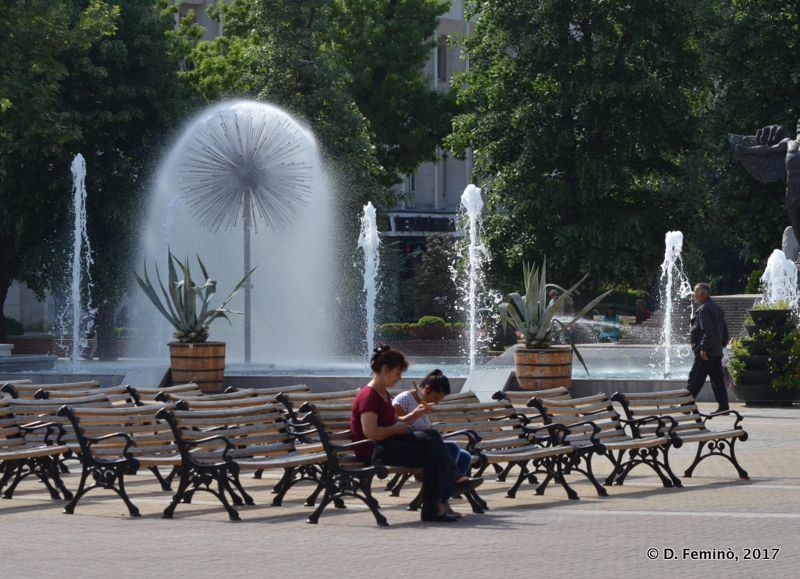 Main square (Haskovo, Bulgaria, 2017)