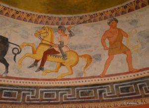 Fresco in tomb of IV B.C. (Alexandrovo, Bulgaria, 2017)