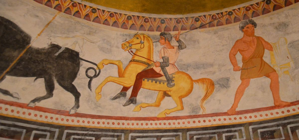 Frescos in Alexandrovo Tomb