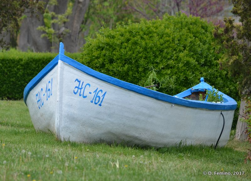Boat on the grass (Burgas, Bulgaria, 2017)