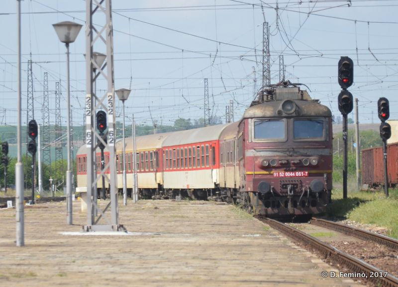 Train arriving from Sofia