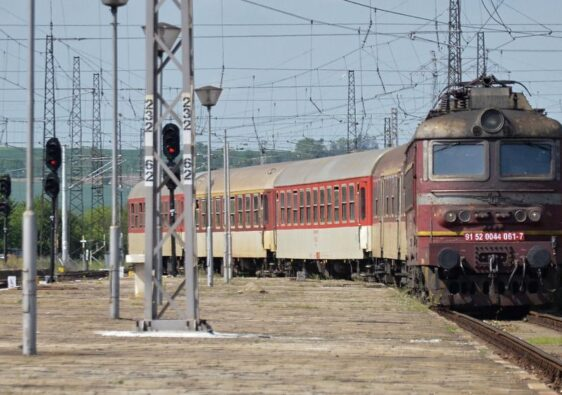 Train entering Karnobat station