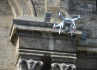 Drone at the church