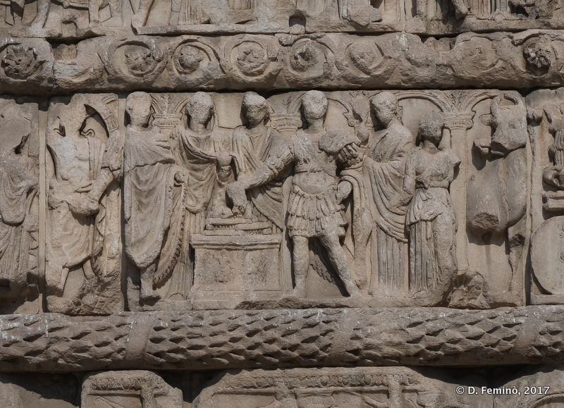 High-relief on Galerius' Arch (Thessaloniki, Greece, 2017)