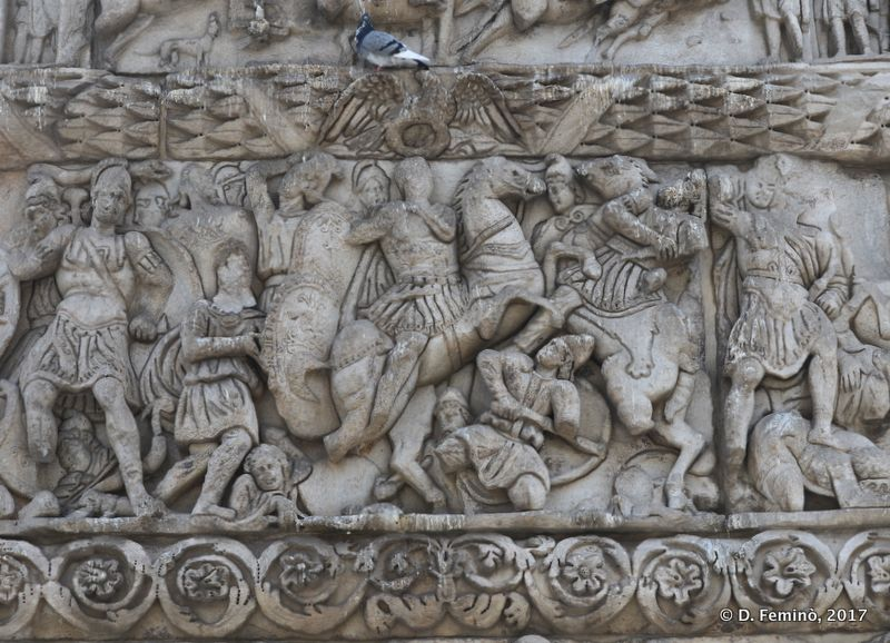 High relief on Galerius' Arch (Thessaloniki, Greece, 2017)