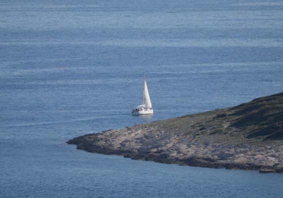 Sailboat in Hvar
