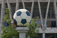 Monument to Football ball