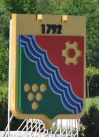 Transnistria coat of arms with bunch of grapes