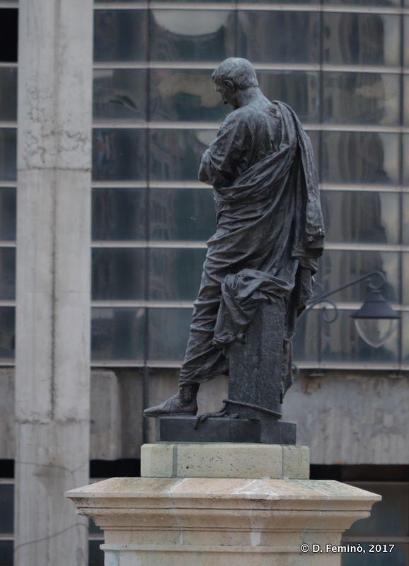 Ovidio's statue (Constanța, Romania, 2017)