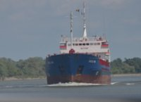 Ship in Sulina channel