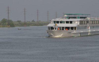 Ship in Sulina channel