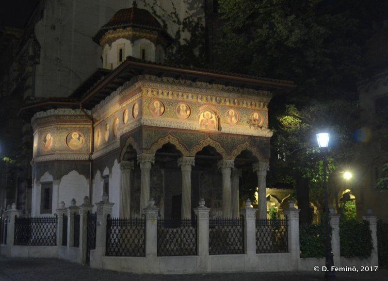 Stavropoleos Monastery at night