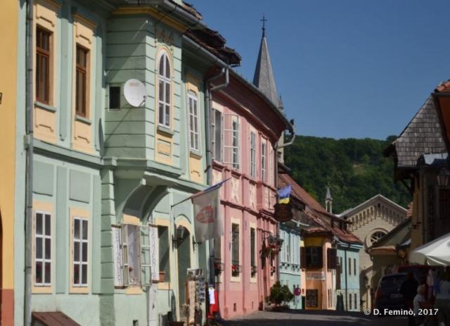 Colourful houses (Sighișoara, Romania, 2017)