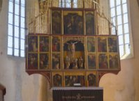 Altar in Biertan's church