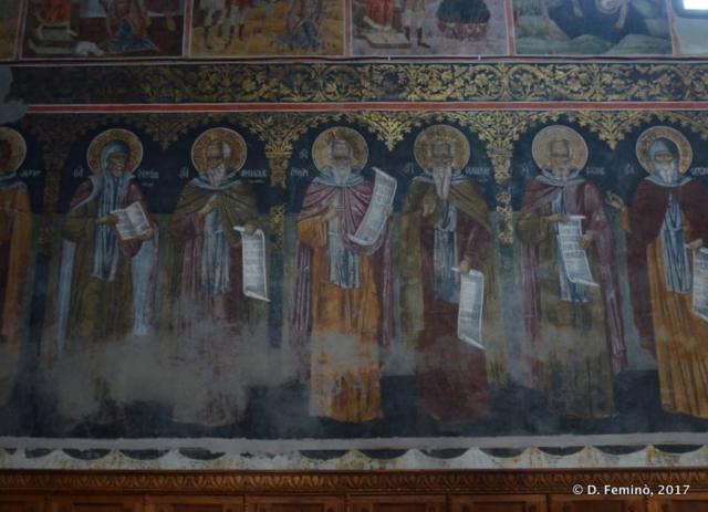 Fresco in Golia Monastery (Iași, Romania, 2017)
