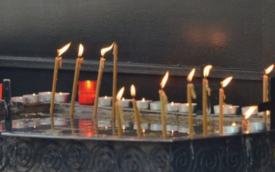 Candles in Galata Monastery