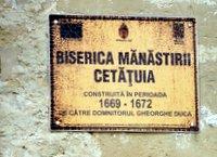 Plate for Cetatuia Monastery