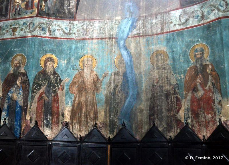 Frescos in Galata monastery (Iași, Romania, 2017)