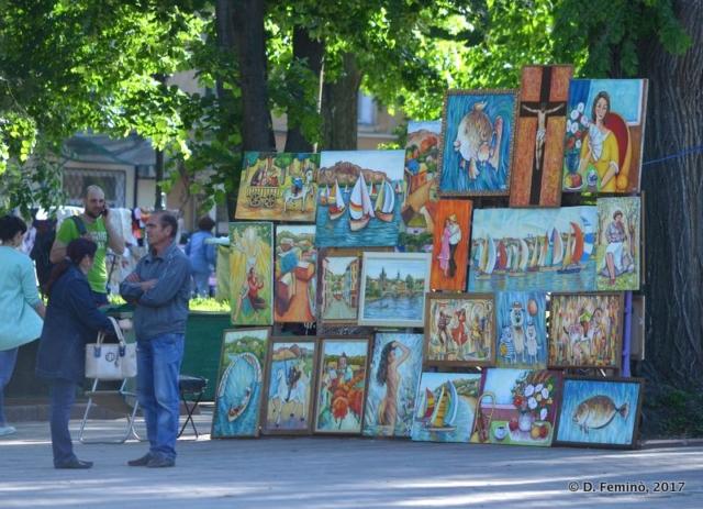 Picture seller (Odessa, Ukraine, 2017)