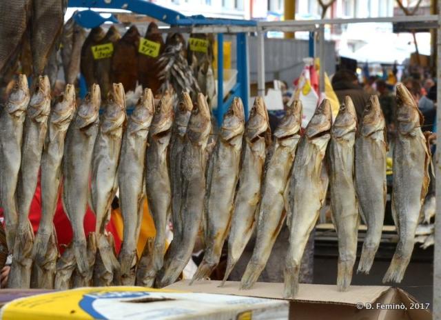 Dry fish in Privoz Bazar (Odessa, Ukraine, 2017)