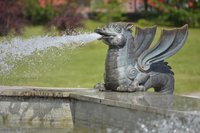 Dragon spitting water