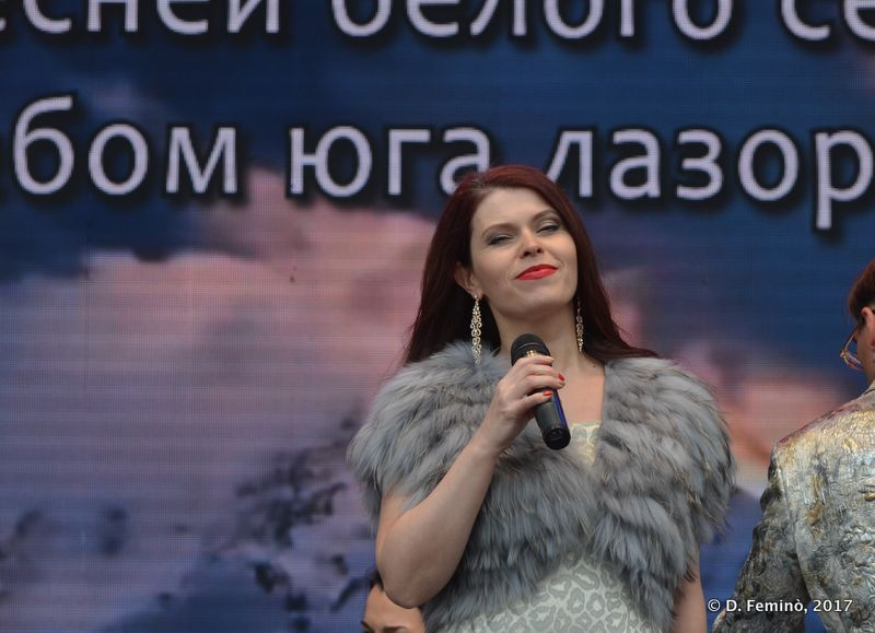 Singer at day of Russia (Yekaterinburg, Russia, 2017)