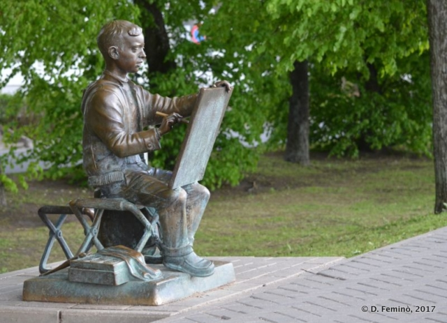 Painter monument (Novgorod, Russia, 2017)