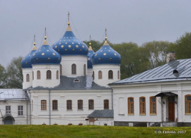 St George's Monastery domes (Novgorod, Russia, 2017)