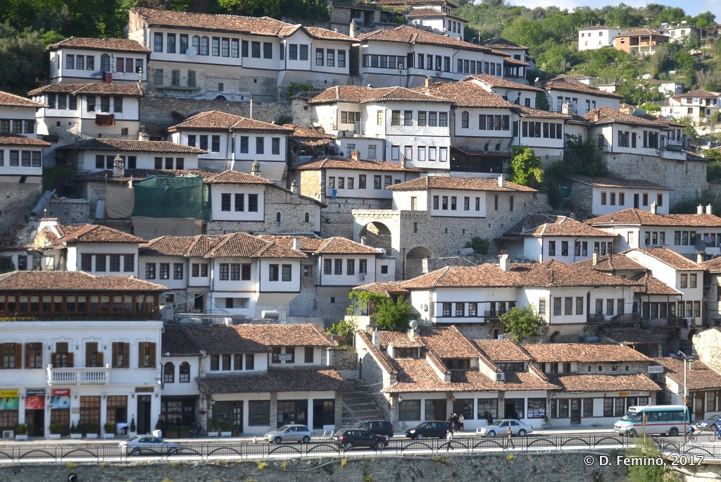 Berat, view of Mangalem, the old town