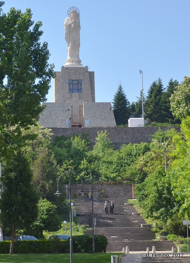 Haskovo, Bulgaria, the world tallest statue of Our Lady