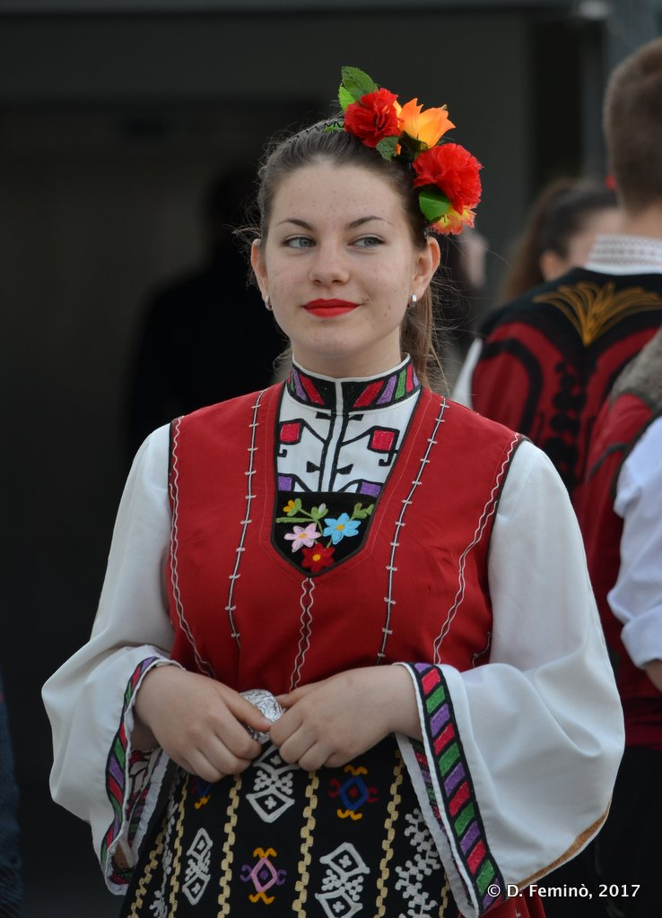 Burgas, Bulgaria, Folk dancer